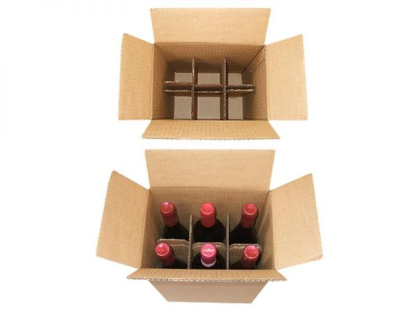 10 Stück: 235x160x330 mm 6er Flaschenkarton