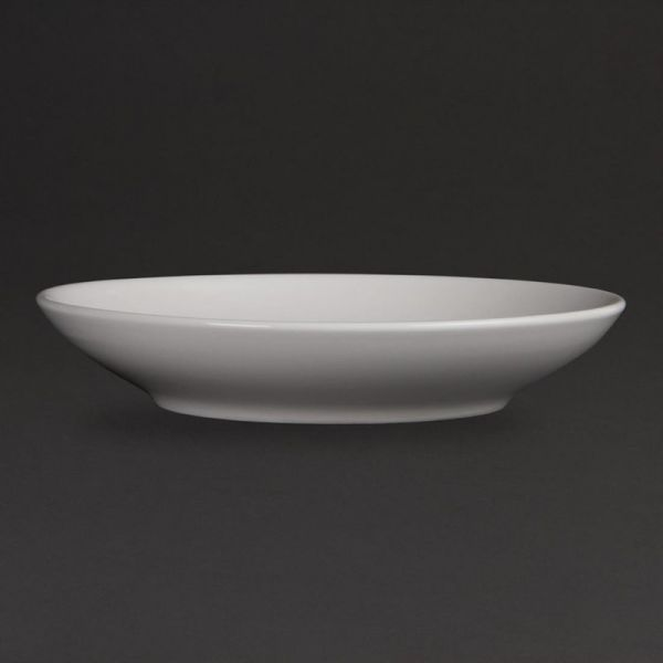 Olympia Whiteware tiefe runde Teller 26cm