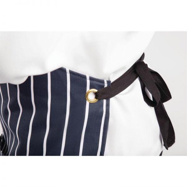 Whites Latzschürze mit Tasche blau-weiß gestreift