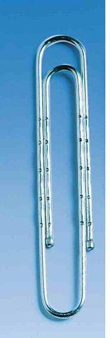 Aktenklammer, rund, gewellt, Met., L: 77 mm, silber