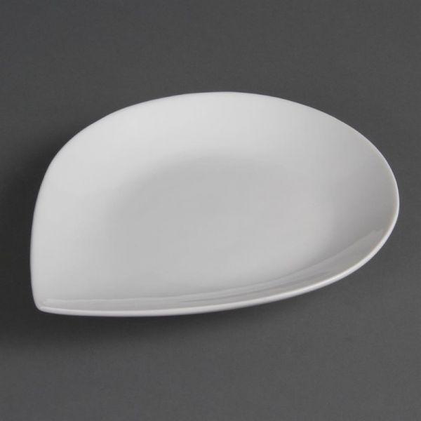 Olympia Whiteware tropfenförmige Teller 31cm; Inhalt: 4 Stück