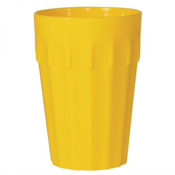 Kristallon Becher gelb 26cl; Inhalt: 12 Stück