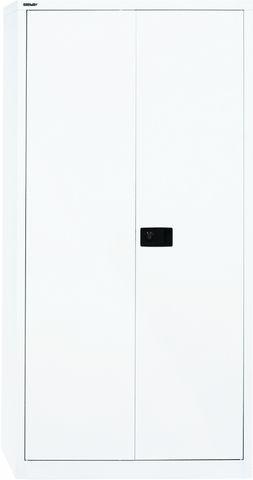 Akten-/Garderobenschrank Universal, 5 Ordnerhöhen, weiß