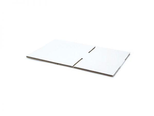 20 Stück: 215x150x55 mm einwellige Kartons, weiß