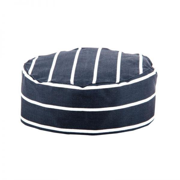 Whites Skull Cap Kochmütze blau weiß gestreift