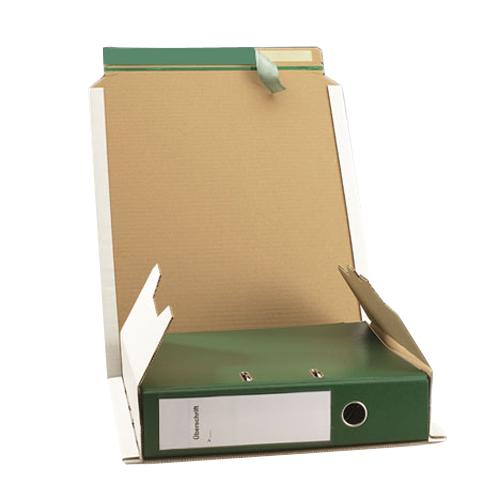 20 Stück: 320x290x35-80 mm Ordner-Verpackung A4 weiß