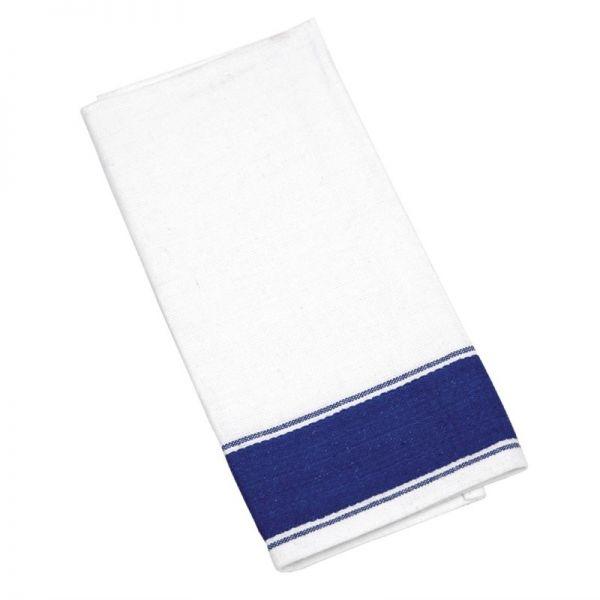 Olympia Gastro Servietten mit blauem Rand 35 x 50cm; Inhalt: 10 Stück