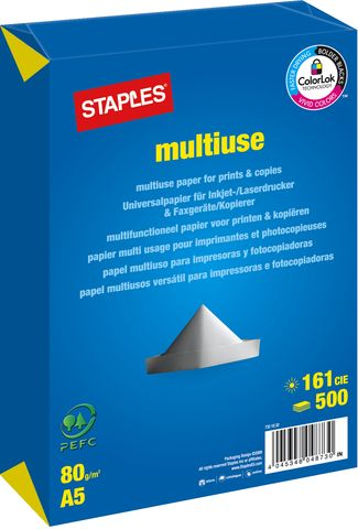 Multifunktionspapier multiuse, A5, 80g/m², weiß