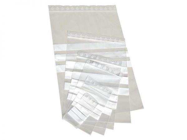 1000 LDPE- Druckverschlussbeutel mit Beschriftungsfeld 120x170 mm, 50my