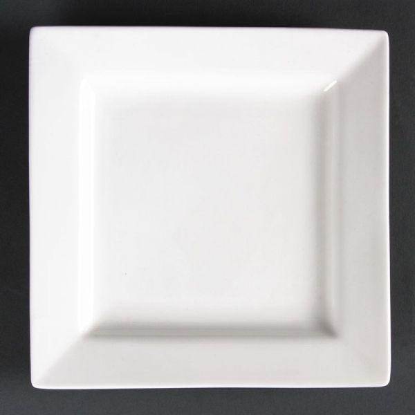 Lumina quadratische Teller mit breitem Rand 17cm