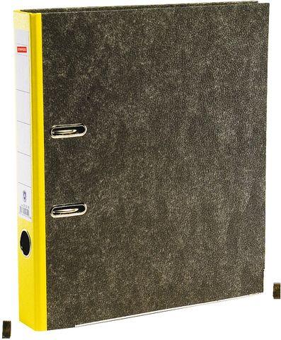 Ordner, Wolkenmarmorpapier (RC), SK-Rückenschild, A4, 50mm, gelb