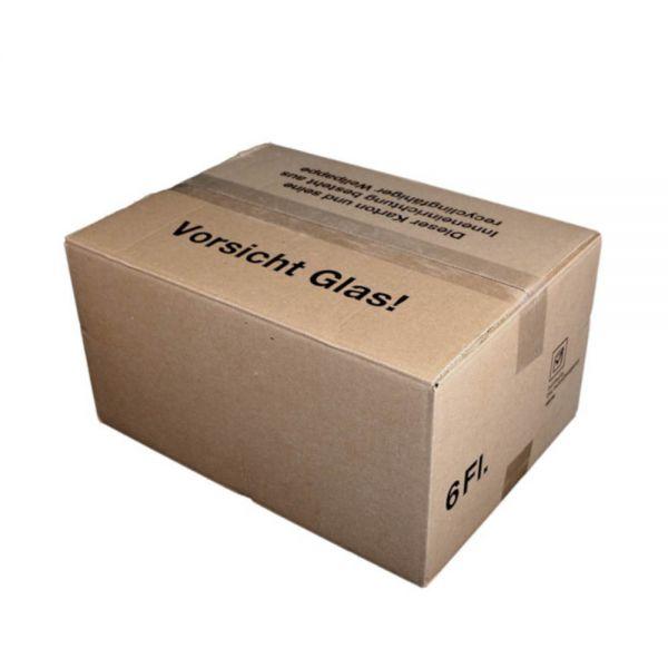 20 Stück: 385x280x98 mm 3er Kombiwell Flaschenkarton liegend