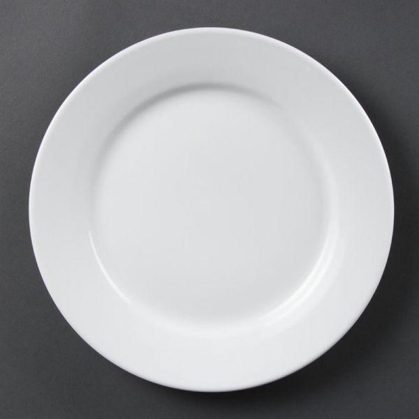 Olympia Whiteware Teller mit breitem Rand 25cm