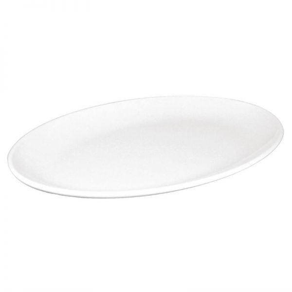 Kristallon ovale Coupeteller weiß 30,5cm; Inhalt: 12 Stück