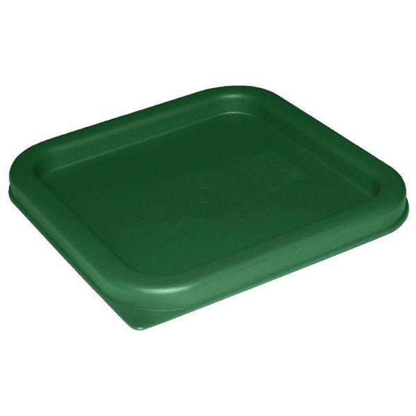 Vogue Deckel quadratisch für Vorratsbehälter 5,5 und 7L grün