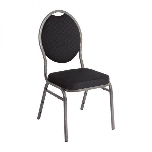 Bolero Bankettstühle mit ovaler Lehne schwarz