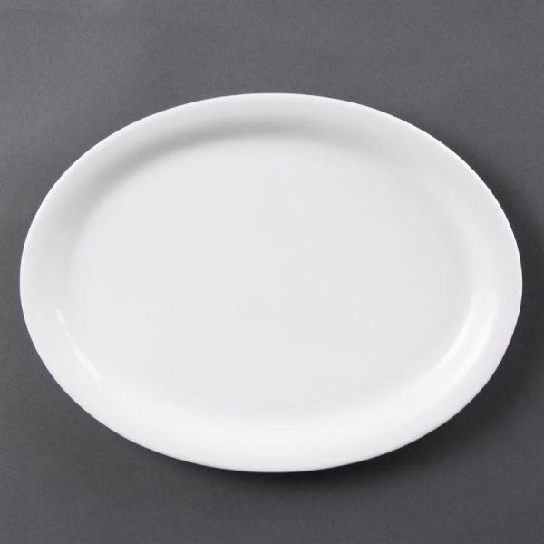 Olympia Whiteware ovale Servierteller 29,2cm