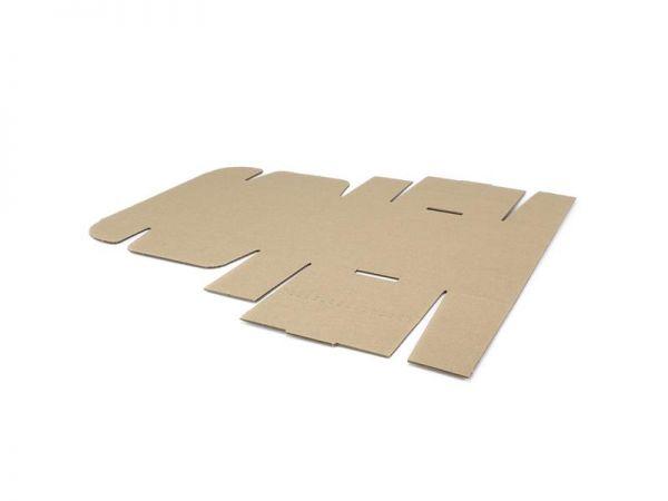 10 Stück: 240x170x75 mm einwellige Faltschachtel