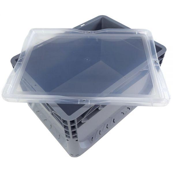 400x300 mm Deckel transparent für Euronorm Behälter