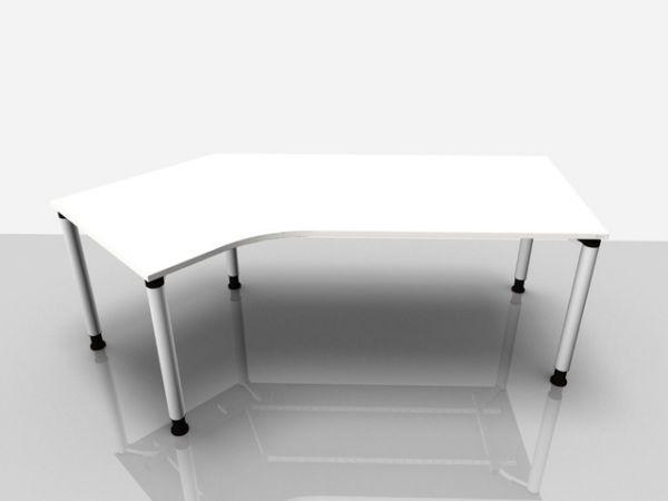 Abgewink.Tisch li. Rialto Pro, 2.170x800/1.000x680-820mm, grau