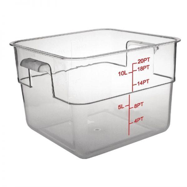 Vogue Vorratsbehälter quadratisch 10L