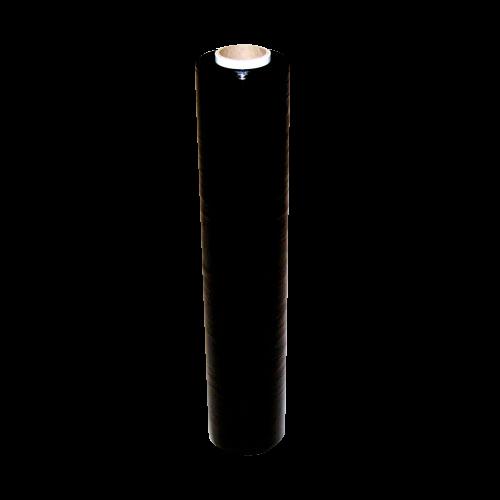 6 Rollen Stretchfolie 500 mm x 300 m schwarz, 23 my