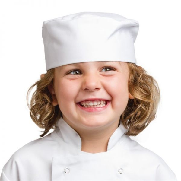 Whites Kinder Skull Cap Kochmütze weiß S
