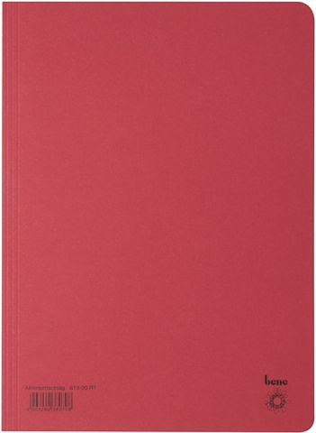 Aktendeckel, Karton (RC), 250 g/m², A4, 23,5 x 32 cm, rot