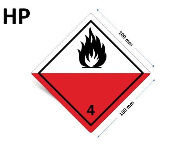 1000 Stück Gefahrgut-Kennzeichnung Klasse 4.2, ohne Text