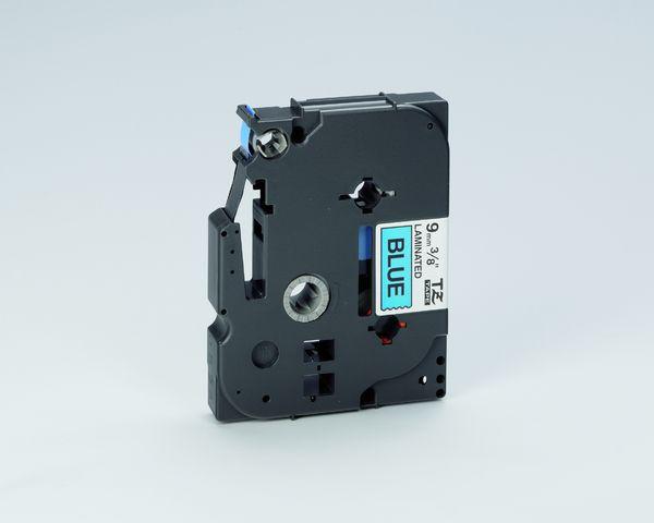Schriftbandkassette TZe, PES, laminiert, 9 mm x 8 m, schwarz auf blau