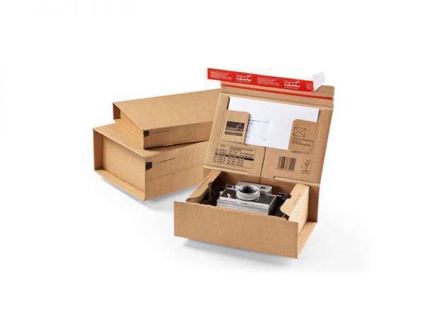 10 Stück: 330x290x120 mm Paket-Versandkarton Ordner