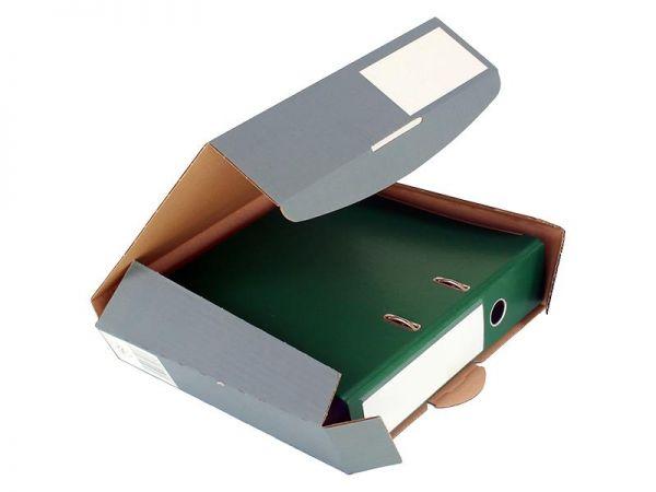 20 Stück: 320x288x80 mm Ordner-Transport-Box A4 anthrazit