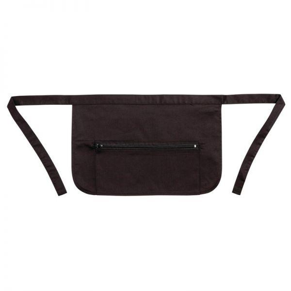 Whites Kellnerschürze mit Tasche und Reißverschluss schwarz