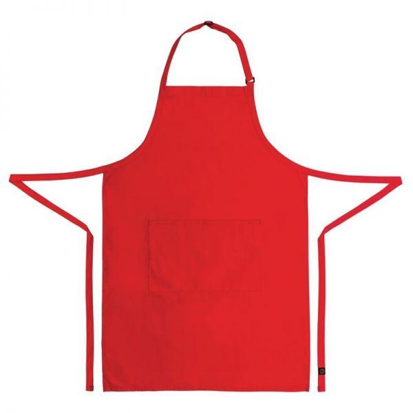 Chef Works verstellbare Latzschürze rot