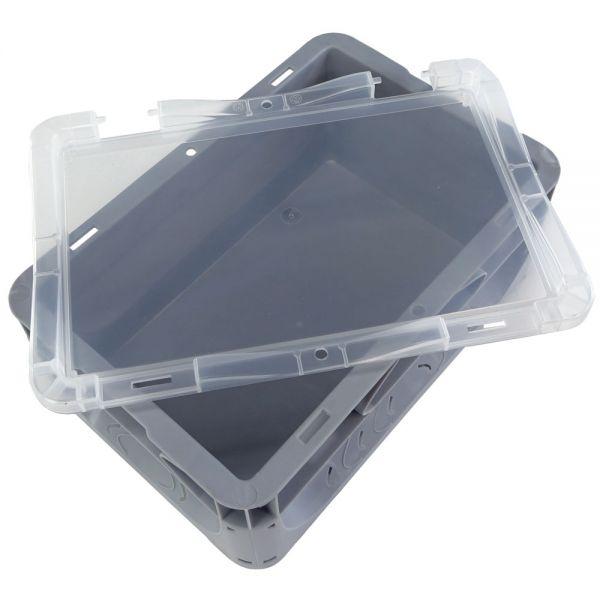 300x200 mm Deckel transparent für Euronorm Behälter
