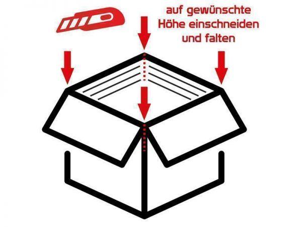 10 Stück: 500x390x215-350 mm Steckboden-Kartons B3+