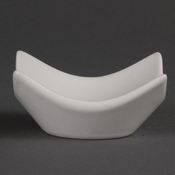Olympia Whiteware Schalen mit erhöhten Ecken 7,2cm; Inhalt: 12 Stück