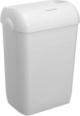 Abfalleimer, für Innenbereich, Kunststoff, 43 l, weiß