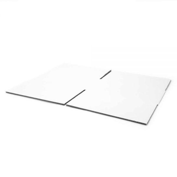 20 Stück: 300x300x150 mm einwellige Kartons weiß