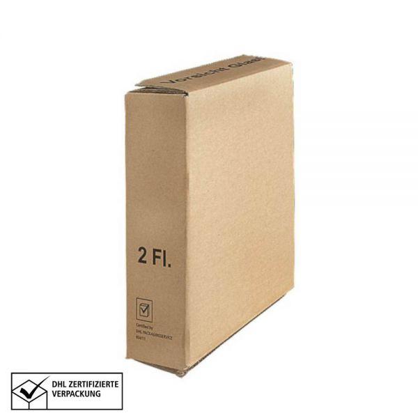 10 Stück: 208x105x380 mm 2er Kombiwell Flaschenkarton Basic