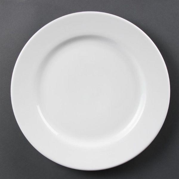 Olympia Whiteware Teller mit breitem Rand 31cm; Inhalt: 6 Stück