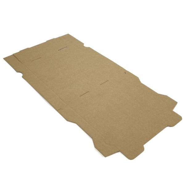 100 Stück: 240x240x40 mm Pizzakarton blanko