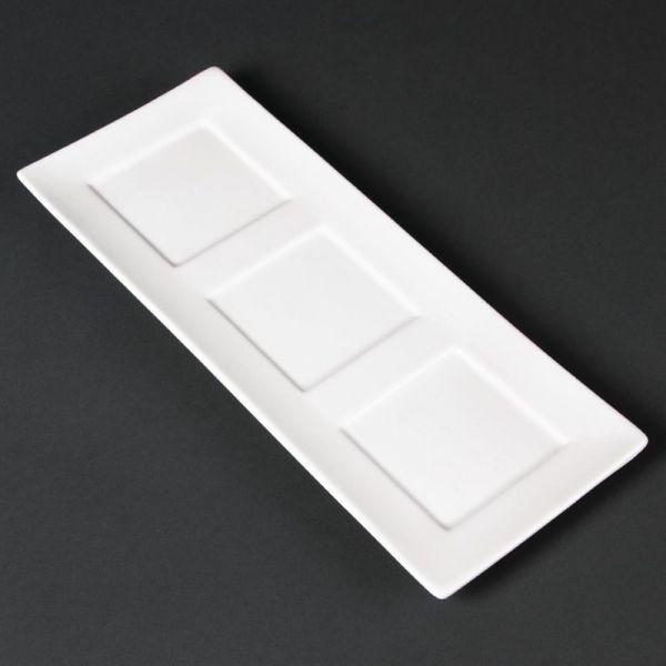 Lumina Präsentierschalen viereckige Aussparung 30 x 12cm; Inhalt: 6 Stück