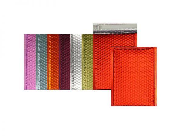 100 farbige Luftpolster-Versandtaschen 324x450 mm, matt