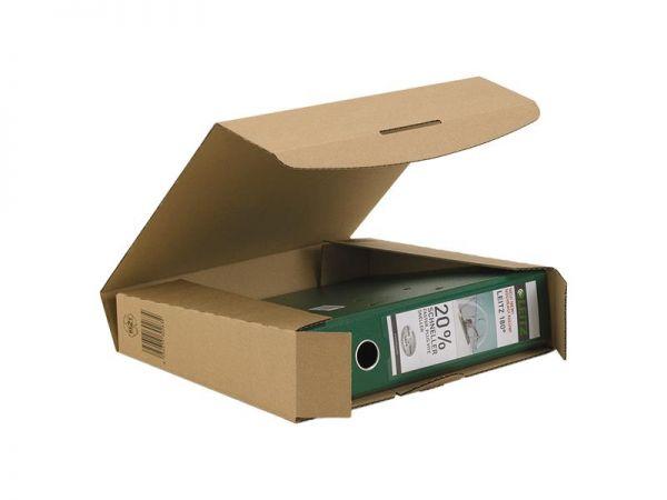 20 Stück: 320x288x80 mm Ordner-Transport-Box A4 braun