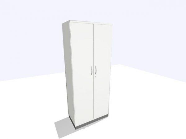 Aktenschrank, 800x450x1.980mm, 5OH, perlweiß