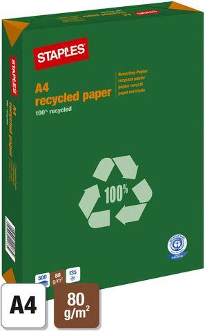 Multifunktionspapier, A4, 80 g/m², Recycling, weiß