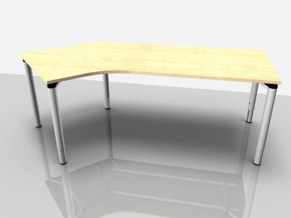 Abgewink.Tisch re. Rialto Pro Komf., 2.170x1.000/800x620-850mm, ahorn