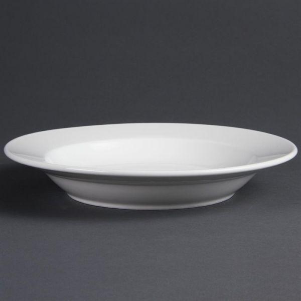 Olympia Whiteware tiefe runde Teller 27cm; Inhalt: 6 Stück