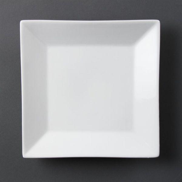 Olympia Whiteware viereckige Teller 25cm; Inhalt: 6 Stück